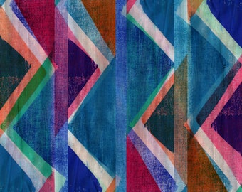 Fabric Triangles archival giclee print - Sarah Bagshaw