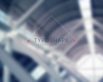 Title & Typography Pack | Typoshape - 7 elegant Title and Typography - After Effects Template - AE flat design project - After effect cs6 +