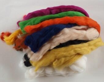 100g / 3.5oz Merino Tops Wool – Mixed 19 Colours – Needle / Wet Felt