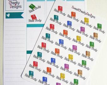Cute Bible Study Stickers!  Perfect for Erin Condren Life Planner, MAMBI/Happy Planner, Plum Planner, Etc.