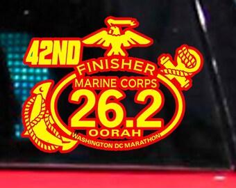 42nd 2017 Marine Corps Marathon Finisher Decal