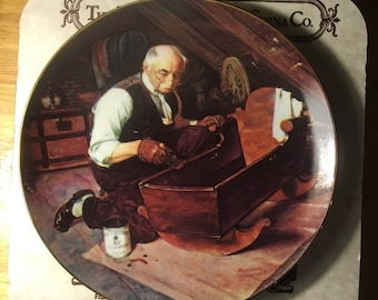Edwin Knowles China Co. Rockwell's Golden Moments series Grandpa's Gift 1987 CP3