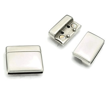 25MM Magnetic Clasp - Strong Magnet - Antique Silver - Qty. 1