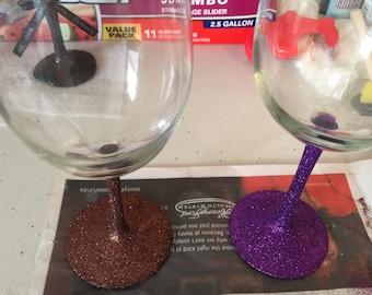 Colored Stemmed wine glasses