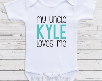 Uncle loves me etsy more colors personalized uncle baby clothes negle Gallery