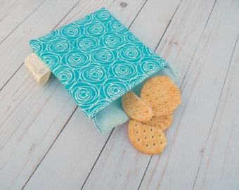 Reusable sandwich bag - reusable snack bag - snack bag for women - women's lunch bag - reusable bag for snacks - green living - zero waste