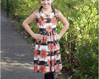 Pearl Party Dress Sewing Pattern/ Girls Dress PDF Sewing Pattern / Baby Dress Pattern / Christmas Dress Pattern