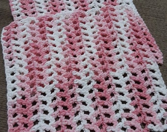 Crochet Dish Cloths pink