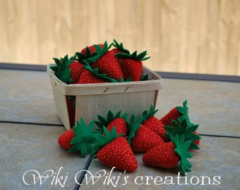 Felt Food Strawberries - Pack of 5