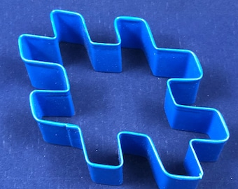 Hashtag 3 Inch Cookie Cutter Navy