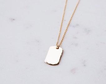 Custom 14k Gold Filled Mini Tag Necklace