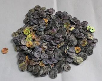 100 Rainbow Grey Color/Round Sequins /Black dots Texture/ KRS659