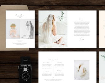 Magazine Template for Boudoir & Wedding Photographers - Photography Welcome Packet - Digital Photoshop Designs - Pricing Guide