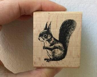 Squirrel Stamp - Woodland Stamp