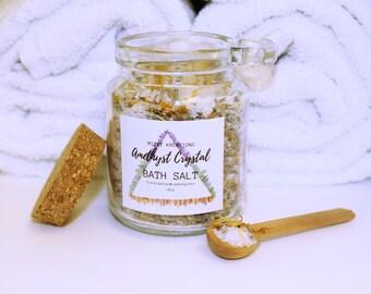 Amethyst Crystal 8oz Bath Salts