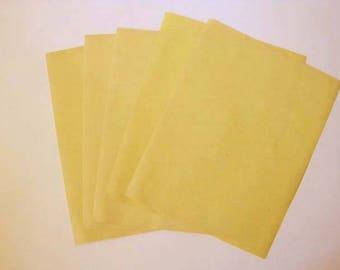 Yellow Manila Typewriter Paper - 40 sheets - lightweight paper  - vintage