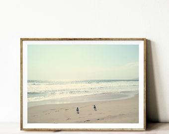 Beach photography, modern beach printable art, wall art, wall decor, beach decor, vintage beach decor, landscape beach photo, print download