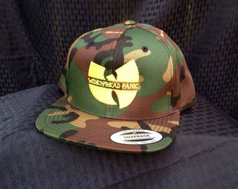 Camo Embroidered Widespread-Wutang SnapBack Hat