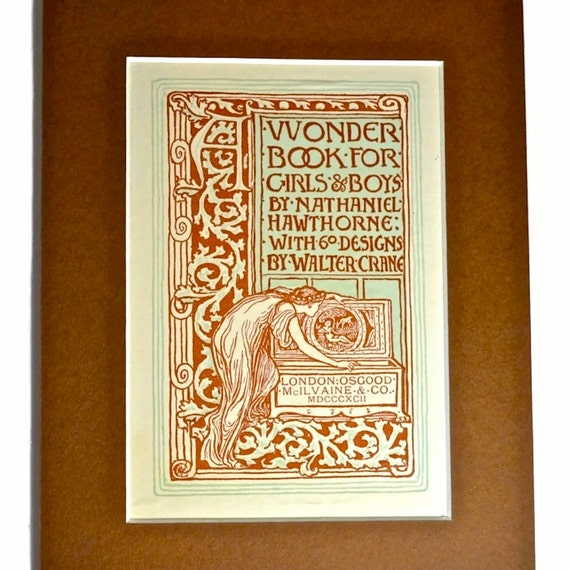 1892 Walter Crane Book Illustration of Pandoras Box Art