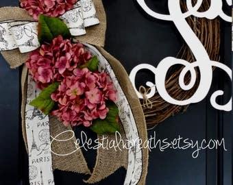 wreaths - spring Wreath - summer Wreath - hydrangea  wreath - grapevine wreath