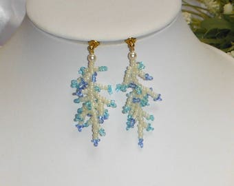 Earrings spirit sea coral branches