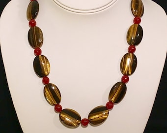 Tiger Eye and Carnelian Necklace