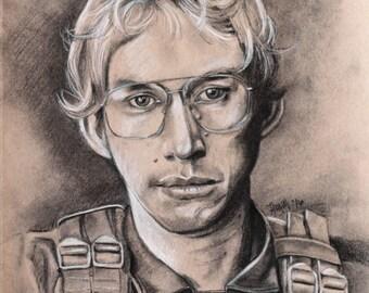 Matt the Radar Technician - Star Wars - Kylo Ren - Adam Driver - SNL - Portrait - Print