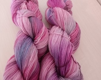 Hand dyed socks wool sugar paradise