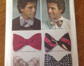 Vintage Simplicity Bow Tie Pattern Number 6059 one-size.  Men's Bow Tie,