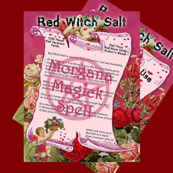 Red Witch's Salt - For Love, Attraction, Lust & Friendship