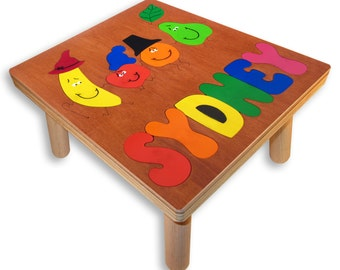 NAME PUZZLE STOOL | Dancing Fruit