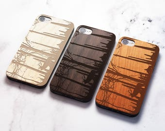 Real Wood iPhone 8 outdoors case also for X SE 5s 5 6 6s 7 and 7 Plus 8 Plus Case iPhone 8 Case Samsung Galaxy S6 S7 S8 Plus Real Wood