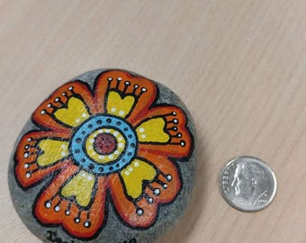 Painted Rock Large Flower