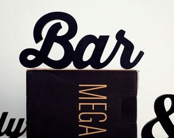 Bar sign - bar wall decor -  bar decor - bar signs - bar party sign - bar sign wedding - bar signs for home - bar decoration - business sign
