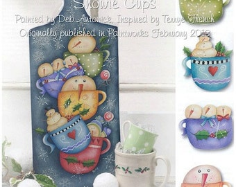 Snowie cups email pattern packet by Deb Antonick - Prev. Published!