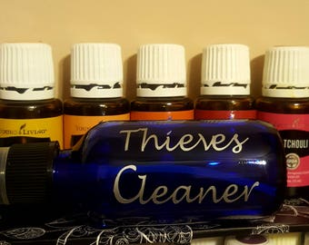 Set of 5 Thieves Spray Labels | Homemade Product Labels | Vinyl Labels | Thieves Cleaner Labels | Thieves Bottle Labels | Roller Ball Labels