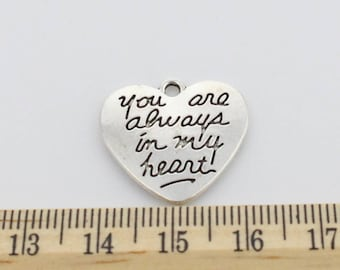 5 You are always in my heart Charms - EF00126