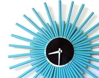 Nautical Blue Wall Clock, Zero Waste Decor and Wall Art, HGTV Magazine Feature