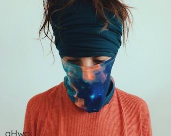 Teal Headband | Dreadband, Hair Tube, Dread Sock, Loc Wrap, Wide Head Band | Long band, Dreadlock, Updo, Hair Wrap | Eco Friendly Headband