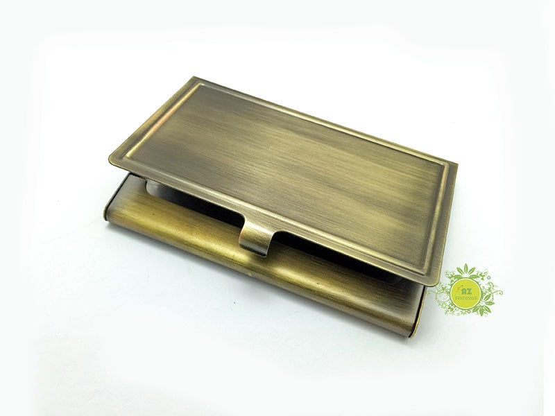 Metal Business Card Holder With Epoxy Sticker-Metal Card