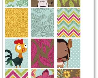 Island Princess Full Boxes Planner Stickers for Erin Condren Planner, Filofax, Plum Paper