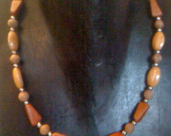 Red Agate Multi Gemstone Choker Necklace Unisex Jewelry