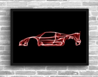 Ferrari F50 Art Wall Art Classic Car Man Cave Gift For Him Automotive Art Car Art Home Decor Ferrari F50 Décor Ferrari  poster Ferrari Print