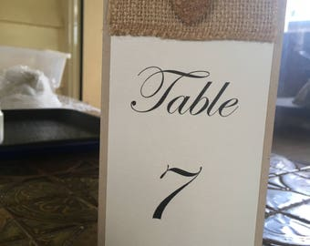 Rustic triangle table topper