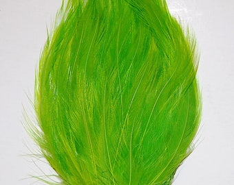 3 pcs HACKLE Feather Pads - MINT Green