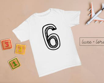 6th Birthday Outfit, 6th Birthday Shirt, Six Shirt, Birthday Boy Outfit, Birthday Girl Outfit, Cake Smash, Sixth Birthday Shirt, ANY AGE