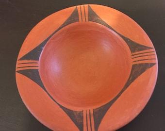 Hopi native american pottery, bowl signed by Laura Preston/ Southwestern