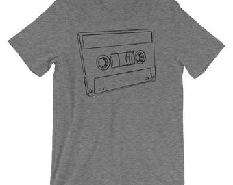 Fathers Day Gift, Gift for Him, Cassette T Shirt, Music Gift, for Music Lover, Music Shirt, Music Tshirt