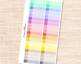 Thin Label (matte planner sticker for Personal Planners)