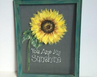 Sunflower,You are my sunshine,Window screen,outdoor art,porch decor